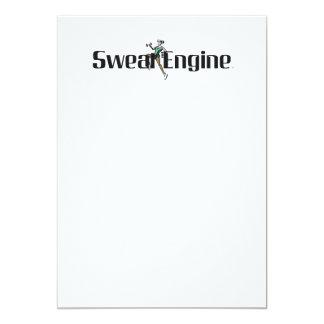 TOP Sweat Engine 13 Cm X 18 Cm Invitation Card