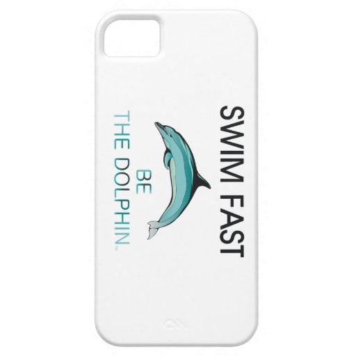 TOP Swim Dolphin Fast iPhone 5/5S Case