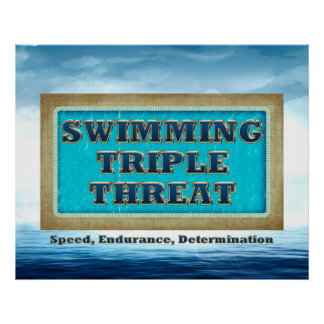 TOP Swimming Triple Threat Poster