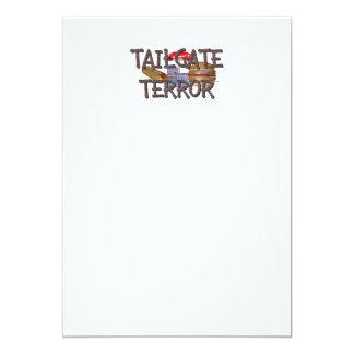 TOP Tailgate Terror 13 Cm X 18 Cm Invitation Card