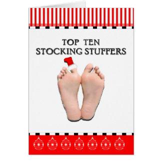 TOP TEN STOCKING STUFFERS GREETING CARD