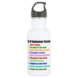 Top Ten Swimmers Excuses 532 Ml Water Bottle