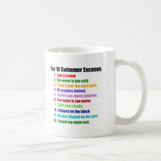 Top Ten Swimmers Excuses Coffee Mug