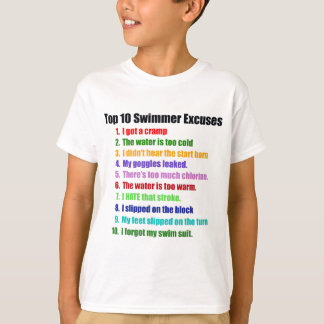 Top Ten Swimmers Excuses Tee Shirts