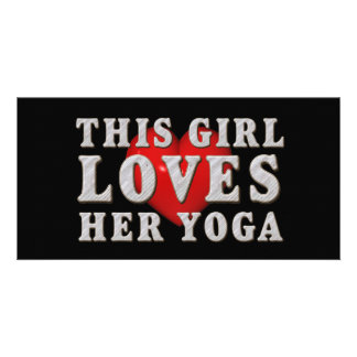 TOP This Girl Loves Yoga Customised Photo Card