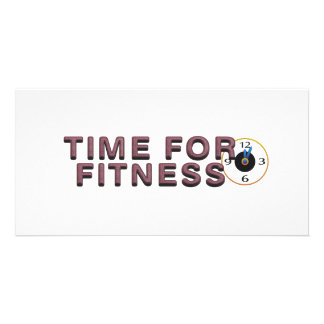 TOP Time for Fitness Customized Photo Card