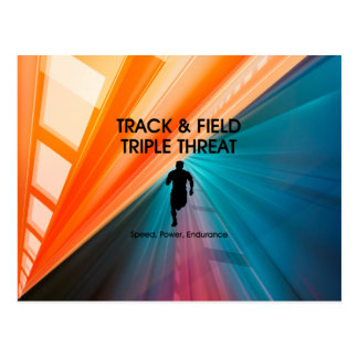 TOP Track and Field Triple Postcard
