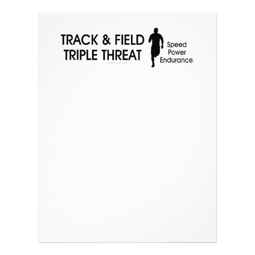 TOP Track Triple Threat Personalized Flyer