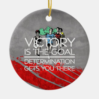 TOP Track Victory Slogan Christmas Ornament