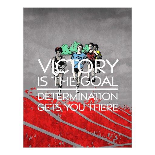 TOP Track Victory Slogan Custom Flyer