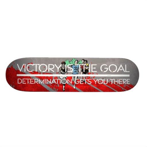 TOP Track Victory Slogan Custom Skateboard