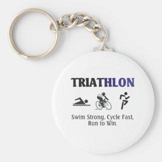 TOP Triathlon Basic Round Button Key Ring