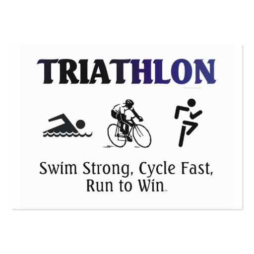TOP Triathlon Business Card Templates