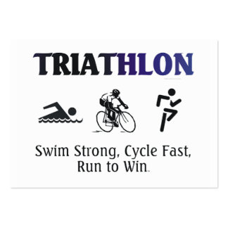TOP Triathlon Pack Of Chubby Business Cards
