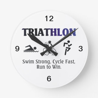 TOP Triathlon Round Clock