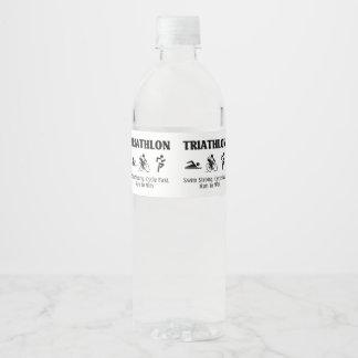 TOP Triathlon Water Bottle Label