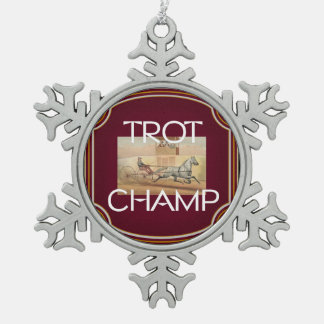 TOP Trot Champ Pewter Snowflake Decoration
