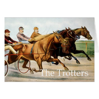 TOP Trotter Greeting Card
