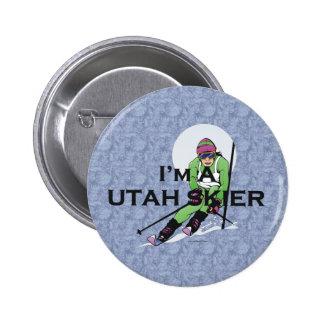 TOP Utah Skier 6 Cm Round Badge
