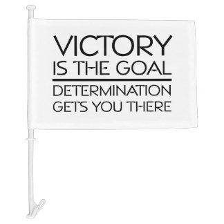 TOP Victory Slogan Car Flag