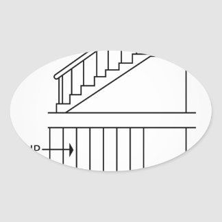 Top view and front view of a Newel quarter turn Oval Sticker
