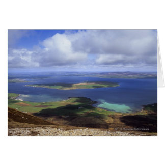 Top view: burra sound, graemsay & orkney mainland card