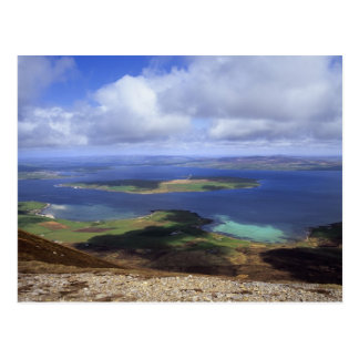 Top view: burra sound, graemsay & orkney mainland postcard