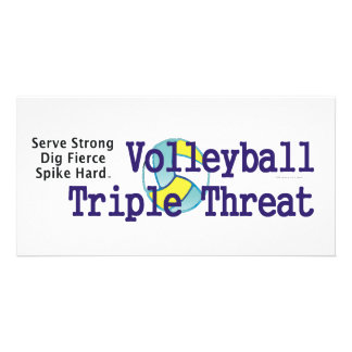 TOP Volleyball Triple Threat Customized Photo Card