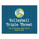 TOP Volleyball Triple Threat Poster