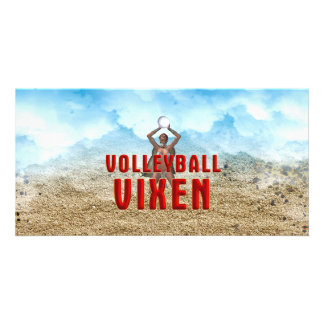 TOP Volleyball Vixen Customised Photo Card