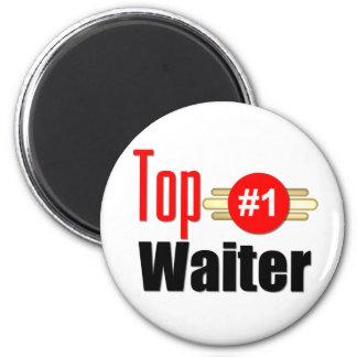 Top Waiter 6 Cm Round Magnet