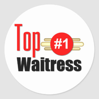 Top Waitress Stickers