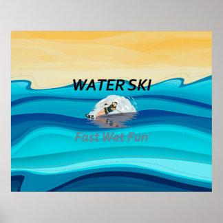 TOP Water Ski Poster