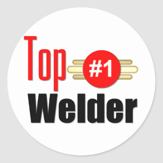 Top Welder Classic Round Sticker