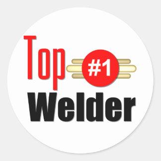 Top Welder Round Sticker