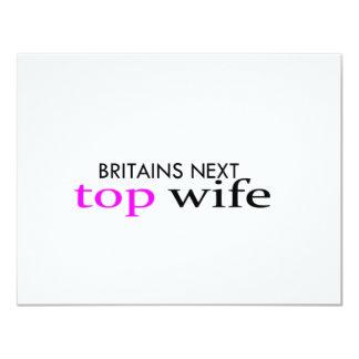 top wife 11 cm x 14 cm invitation card