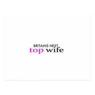top wife postcard