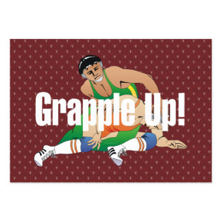 TOP Wrestling Grapple Up Pack Of Chubby Business Cards