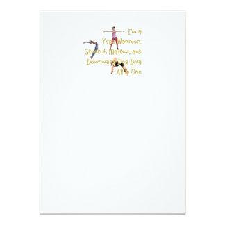 TOP Yoga Diva 13 Cm X 18 Cm Invitation Card