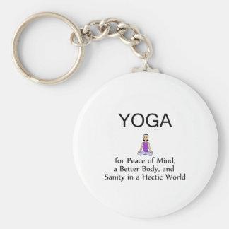 TOP Yoga Slogan Keychains