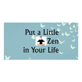 TOP Zen Slogan Personalized Photo Card