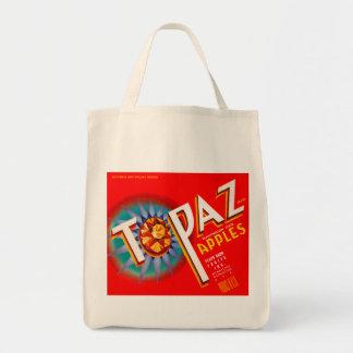 Topaz Apples Grocery Tote Bag