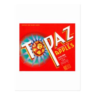Topaz Apples Postcards