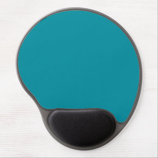 Topaz Blue Personalized Aqua Teal Color Background Gel Mouse Pad