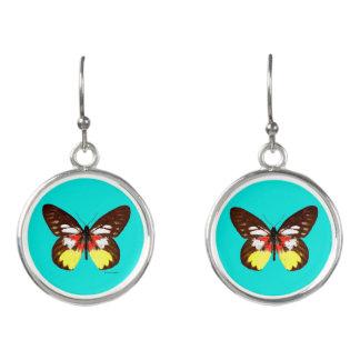 """""""Topaz Butterfly"""" Aqua Drop Earrings"""