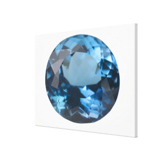 Topaz gem canvas print