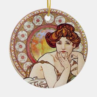 Topaz Goddess Christmas Ornament