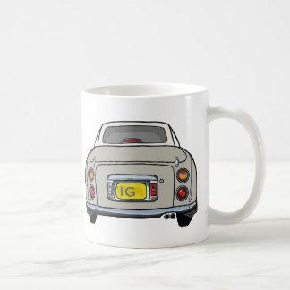 Topaz Mist Nissan Figaro Car Mug, Custom Initials Coffee Mug