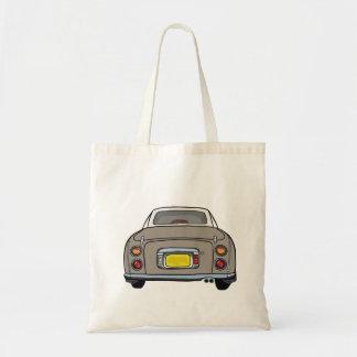 Topaz Mist Nissan Figaro Car Tote Bag