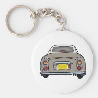 Topaz Mist Nissan Figaro Keyring Basic Round Button Key Ring